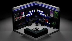 3D gamer ps ps5 model