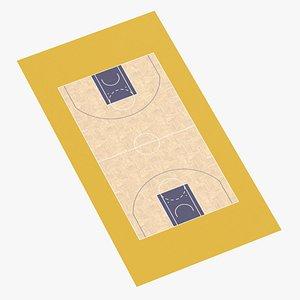 3D Basketball Surface 08 model