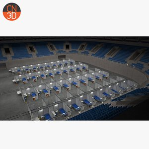 Arena center for quarantine and vaccination for Corona Covid 19 3D model