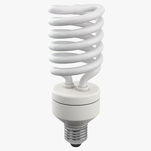 Fluorescent Bulb 3D model