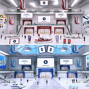 e-congress lobby 3D model