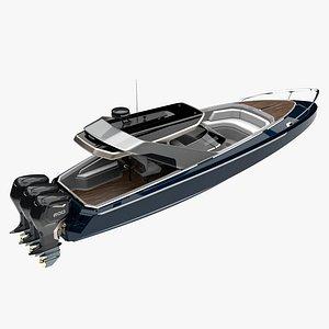 3D yacht boat vessel