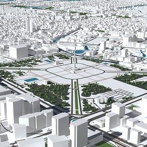 3D jakarta city urban model