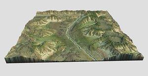 terrain landscape river model