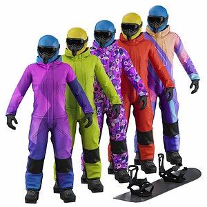 3D Snowboarder