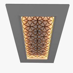 3D ceiling decor model