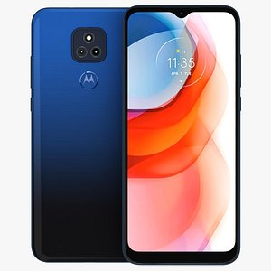 3D Motorola Moto G Play 2021 Misty Blue