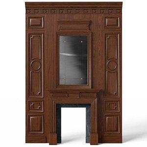 3D Fireplace 01 01 model