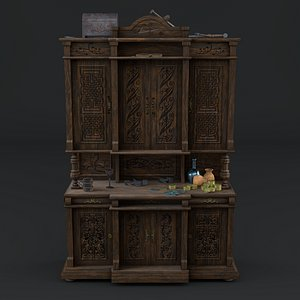 antiquarian sideboard 3D
