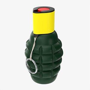 3D Fireworks smoke grenade