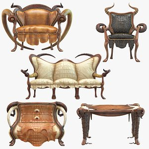 3D model african furniture decorative