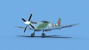 3D Supermarine Spitfire Mk IXb V01