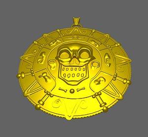 3D model pirate pendant