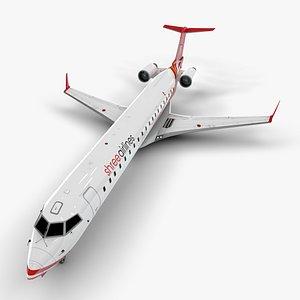 airlines bombardier crj 700 3D model