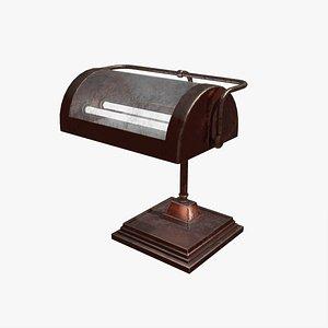 3D Noir Bankers Lamp model