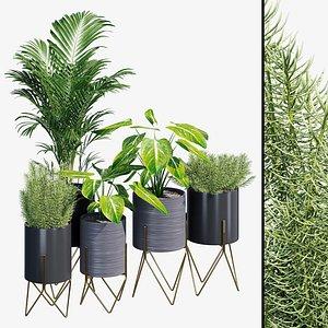 Kyoto metal planter model