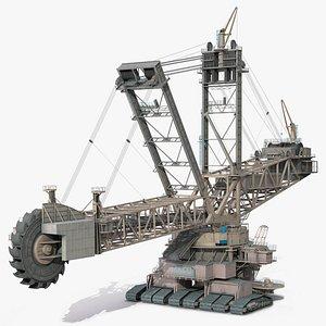 3D model Mining Multi Bucket Wheel Excavator