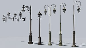 3D streetlamp lightpost model