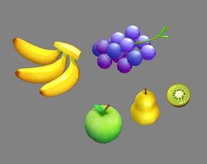 fruitcollection yellowbanana 3D