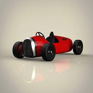 3D model vintage racing car