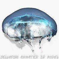 jellyfish animated 3d model