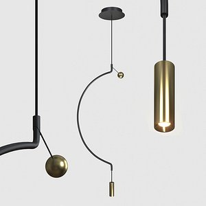 3D semicircle lamp delight model