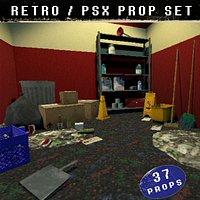 Retro Prop Set - PSX style - 37 pieces