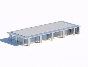 3D model pavilion or exhibition hall 3d model