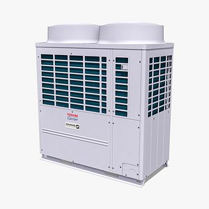 3D 20hp Toshiba Carrier VRF Heat Recovery Outdoor Unit model