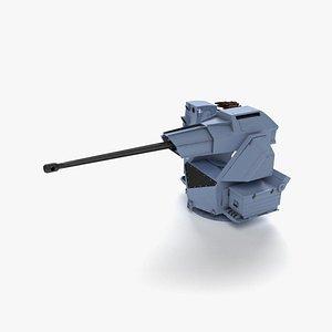 Aselsan SMASH 30mm Naval Gun 3D model