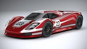 3D porsche 917 concept