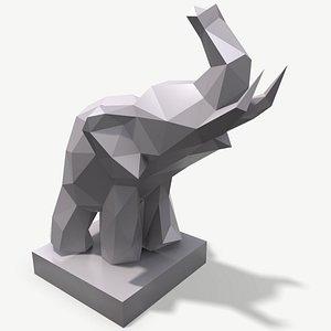 3D papercraft elephant craft