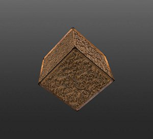 Engraved Wood Decorations CHEAPER KITBASH SET 3D model 3D