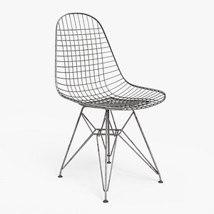 Wire Chair DKR Rusted - PBR 3D