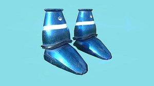 3D sci-fi boots 02 - model