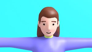 woman motion character 3D model