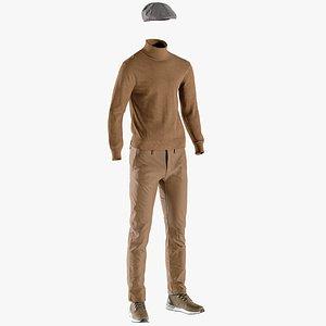 pants boots hat 3D