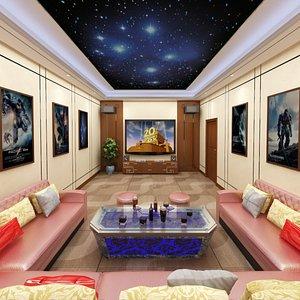 3D Private VIP Cinema Room model
