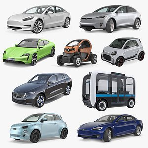 Electric Cars Collection 3 3D model