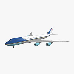 Boeing 747-8i Air Force One 3D model