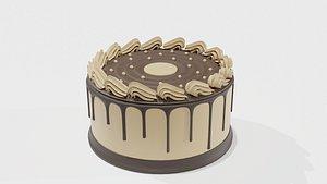 3D Chocolate cake model model