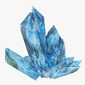 Blue Crystal Mineral 3D model