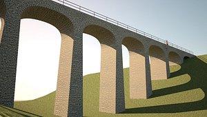 old stone bridge 3D