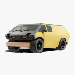 3D model box brubaker 1972
