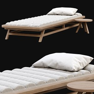 chaise lounge wooden model