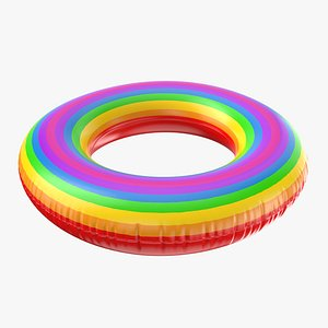 3D Inflatable Rainbow Ring model