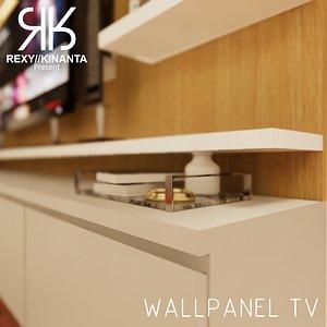 3D model Wallpanel TV Modern Minimalism
