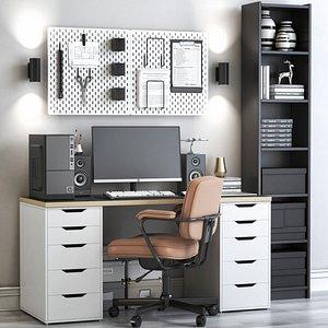 IKEA office workplace 75 3D model