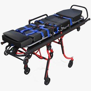 ambulance unfolded gurney 3D model