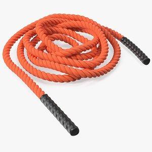 Fitness Battle Rope Orange 3D model